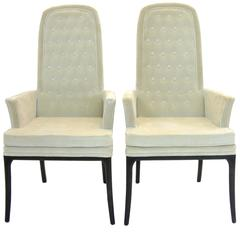 Stunning Pair of Original Tufted Erwin-Lambeth Armchairs