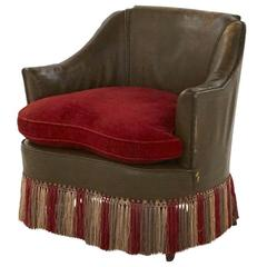 Antique French Fringe Armchair
