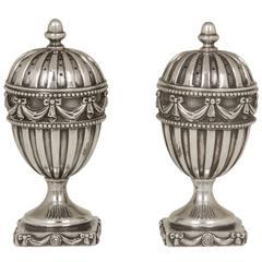 Regency Revival Sterling Silver Salt and Pepper Shakers
