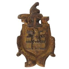 Carved Giltwood Coat of Arms