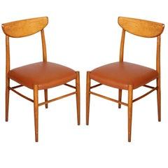 Italian 1950s Pair of Chairs in the Manner Peter Hvidt & Orla Mølgaard-Nielsen