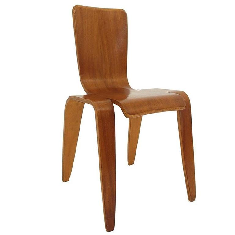 Han Pieck Plywood Bambi Chair Rare and Early Dutch Design, the Netherlands, 1946 For Sale