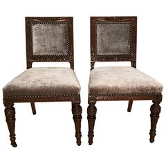 12 Gillows 19th Century Oak Dining Chairs