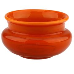 Erik Höglund Boda Sweden Signed H 1652/160 Orange Studio Work Glass Small Bowl.
