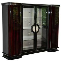Art Deco Macassar Cabinet, Paris