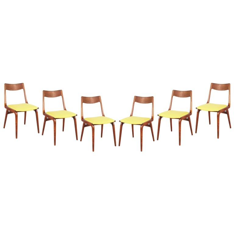 Teak Dining Chairs by Erik Christiansen (Set of 6), Yellow 1