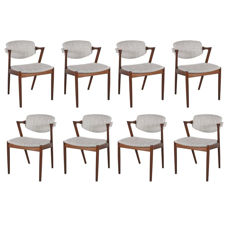 Danish Kai Kristiansen 42 Dining Chair, Set of 3 1