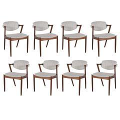 Danish Kai Kristiansen 42 Dining Chair, Set of 3