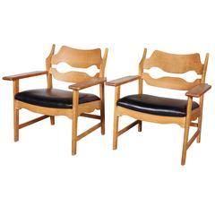 Oak Pair of pf Chairs