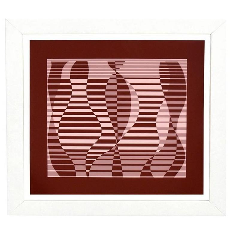 Josef Albers Abstract Screen-Print from Formulation and Articulation