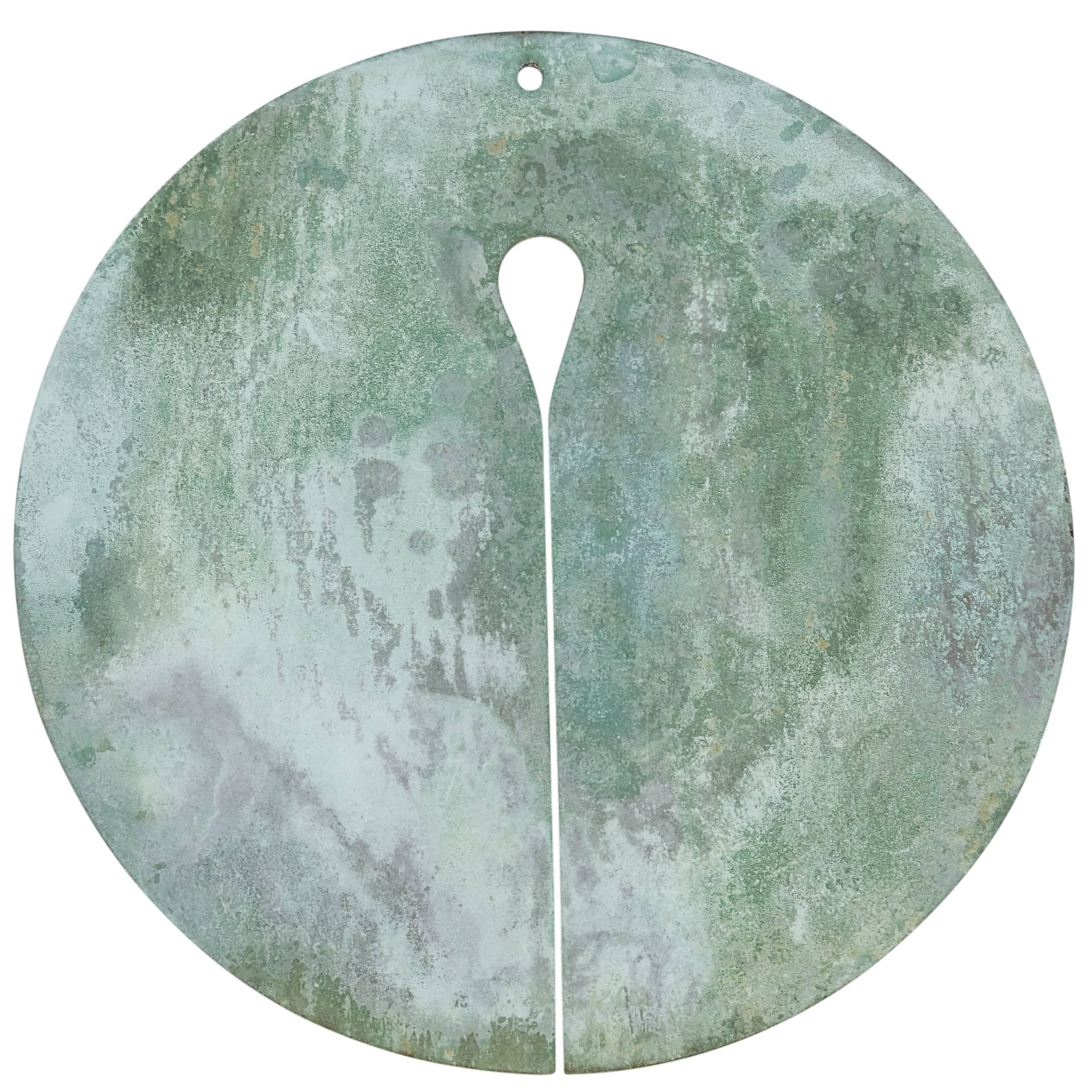 Harry Bertoia Patinated Bronze Gong