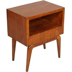 1940s Mid-Century Modern Bedside Table in Cherry Wood Gio Ponti Manner