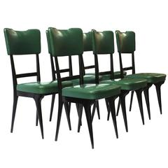 1950, Italian Manufacture, Six Chairs Ico Parisi Style