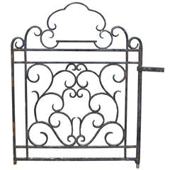 Antique Wrought Iron Side or Pedestrian Gate