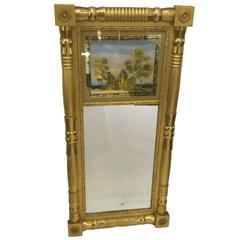 Federal Gilt-Gesso Split-Baluster Mirror, American, 19th Century