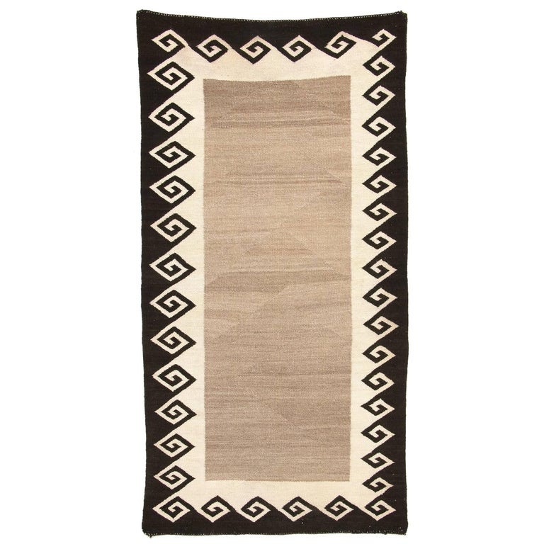 Vintage Navajo Double Saddle Blanket (Area Rug), Early 20th Century For Sale