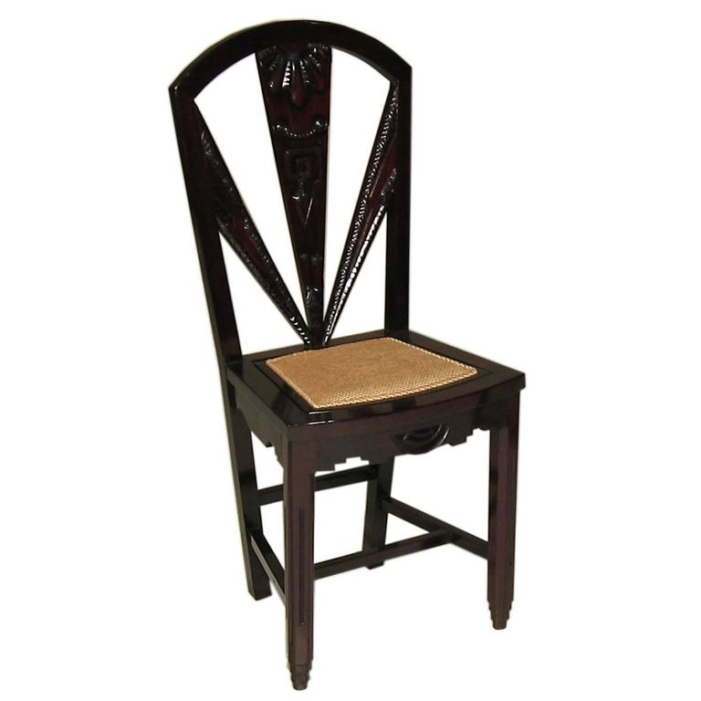Chinese art nouveau side chair for sale at 1stdibs for Asian chairs for sale