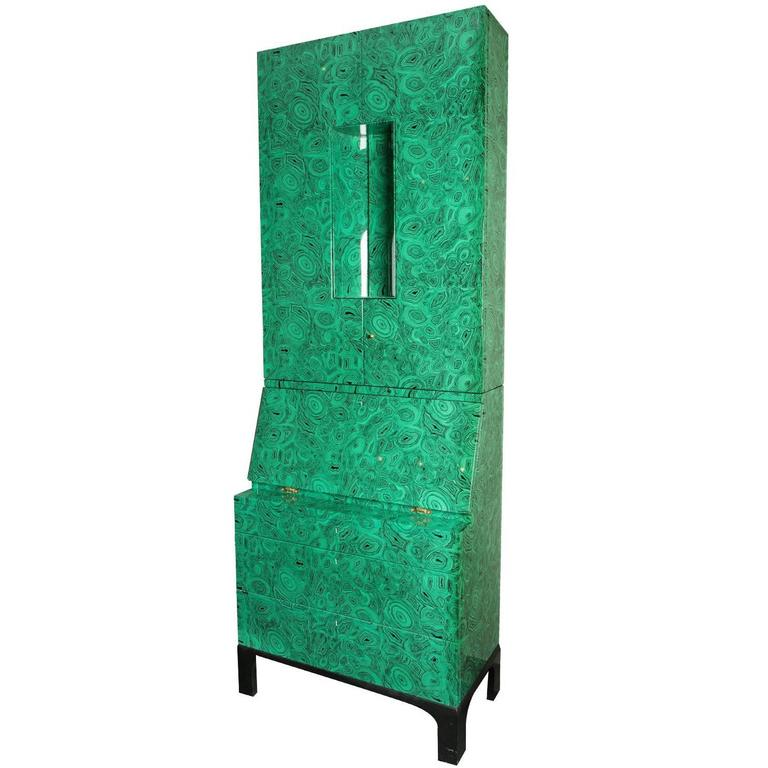 Fornasetti Malachite Trumeau Cabinet, 2010 For Sale