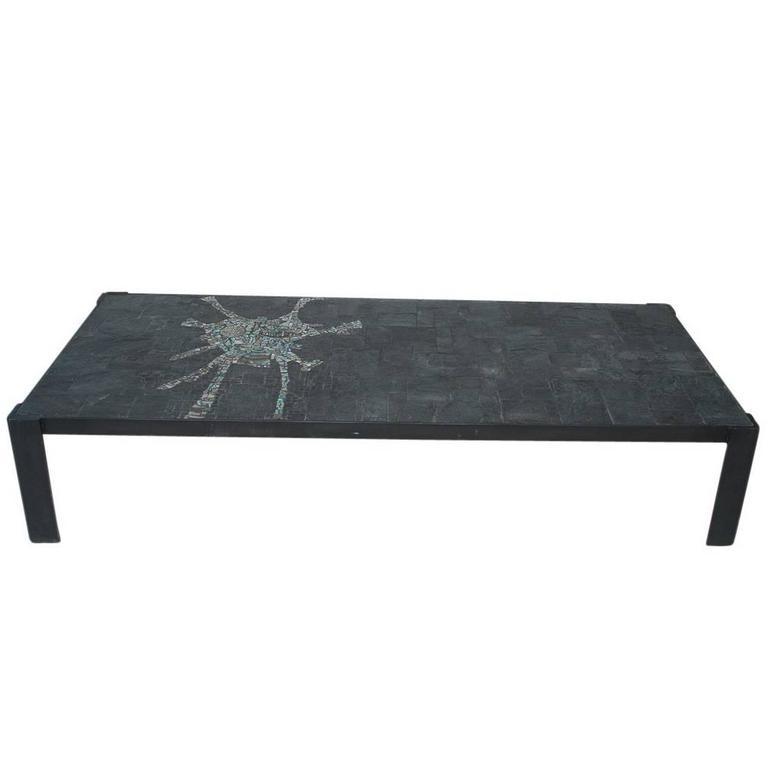 Pia Manu Low Rectangle Table Black, 1970s