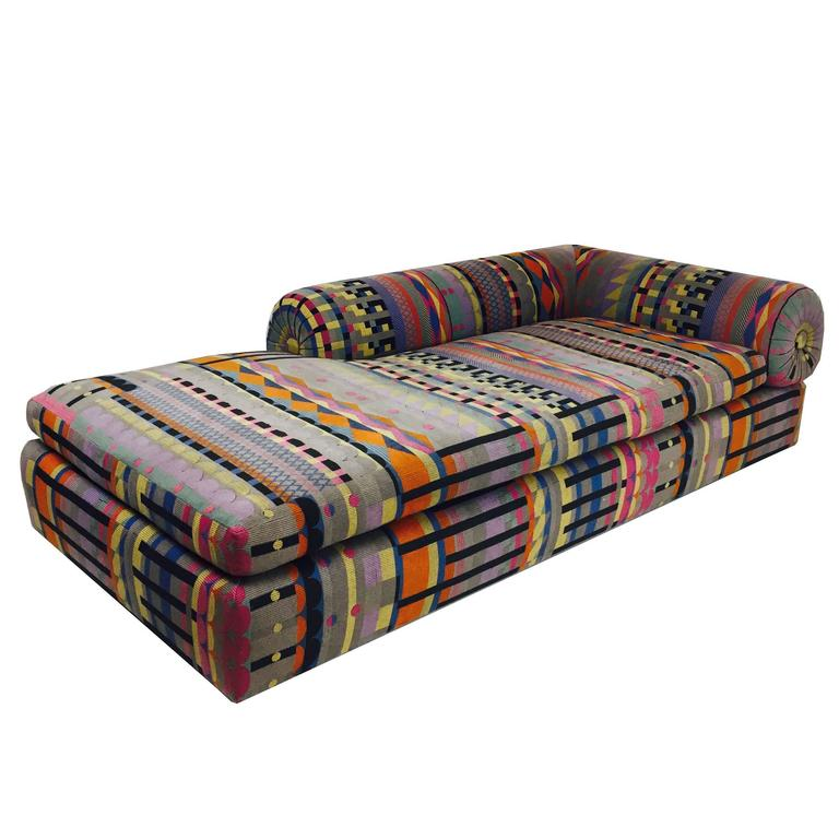 Bolster Back Chaise Longue