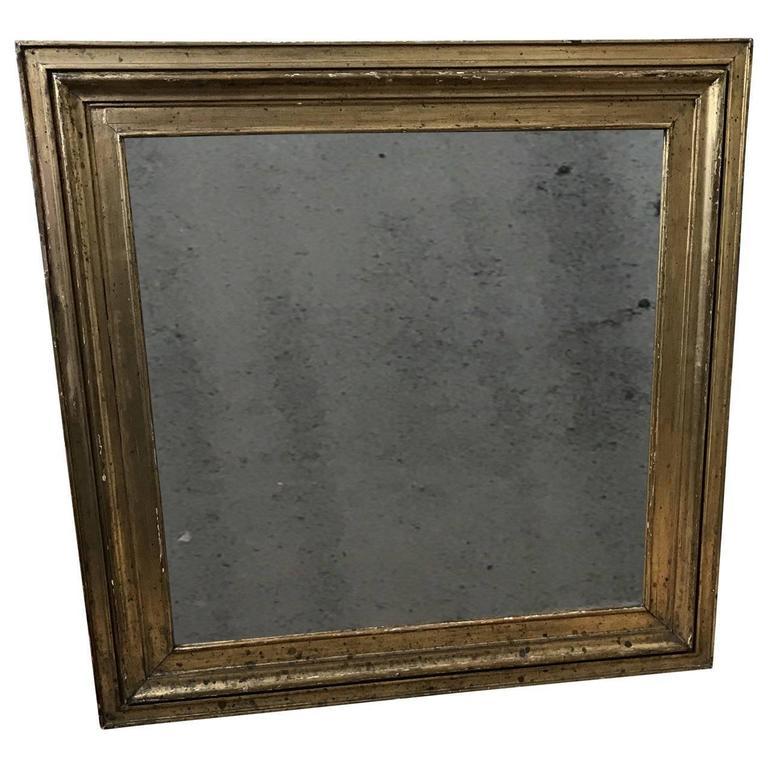 Square 19th Century Empire Wall Mirror