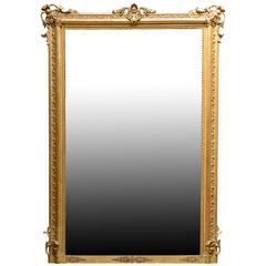 Louis 16 Style Gilded Wood Mirror, 19th Century