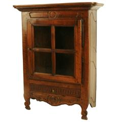 Louis XVI Carved Walnut Verrio Display Cabinet, circa 1780