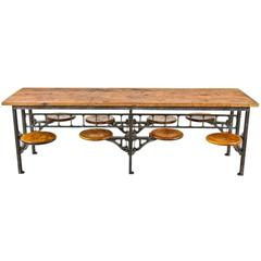 20th Century Industrial Sani Factory Lunch Table