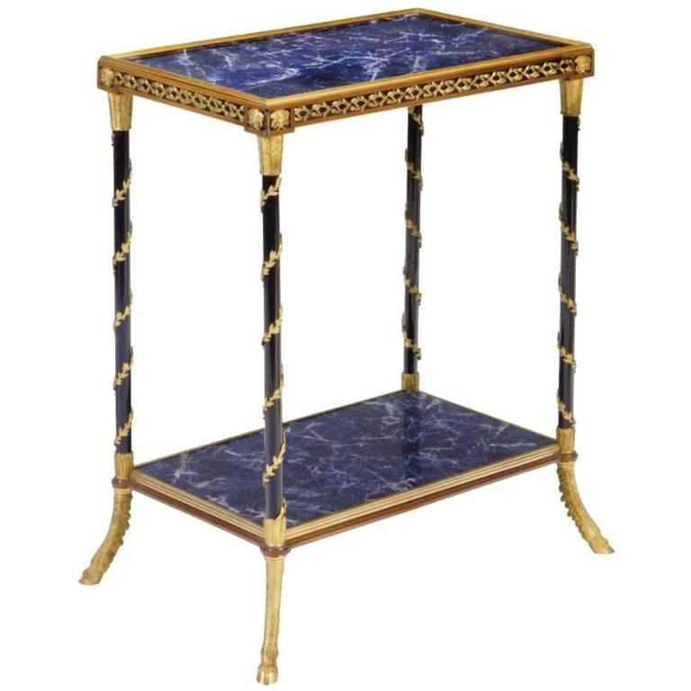 Rare versace face lapis lazuli bronze mahogany two tiered for Table versace