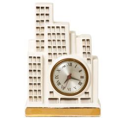 Art Deco Ceramic Skysraper Clock
