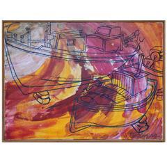 Fine Piero Aversa Oil on Canvas