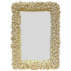 Seashells-Framed Half-Length Mirror