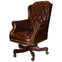 20th Century Cabot Wrenn Executive Seating with Tufted Leather