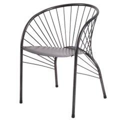 "Paolo Pallucco ""Lizie"" Iron Armchair 1984, Original Piece of Modern Art"