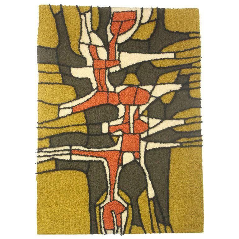 Abstract Hooked Rug