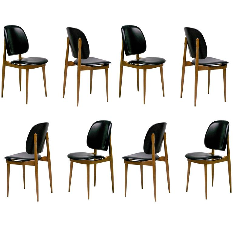 1960s Black Leather Chairs