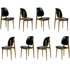 1960s Set of Eight Chairs by Pierre Guariche