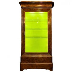 Antique Louis Phillipe Style Burled Display Case