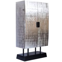 Silver Leaf Cabinets - 17 For Sale at 1stdibs