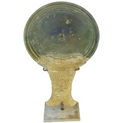 15th Century Bronze Mirror Back, Cambodia