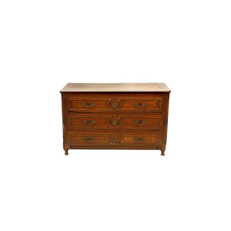 French Louis XVI Provincial Oak Commode, 18th Century