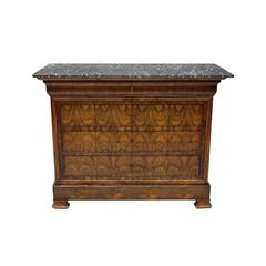 Louis Phillipe Style Walnut Chest of Drawers, 19th Century