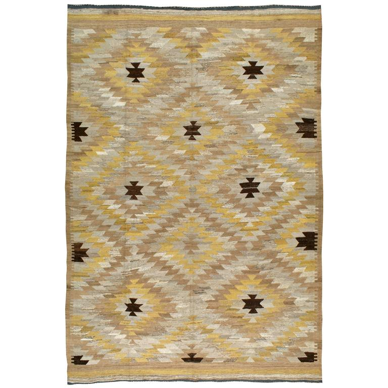 Modern Turkish Kilim Flat-Weave Rug For Sale At 1stdibs