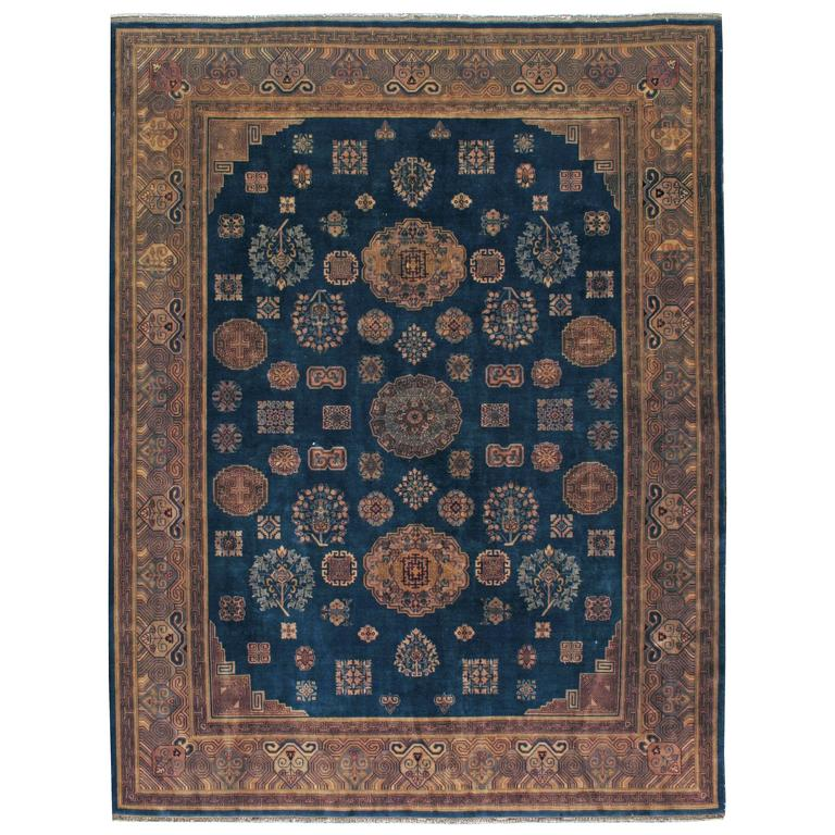 Antique Chinese Rug: Vintage Chinese Khotan Style Rug For Sale At 1stdibs