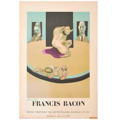 Large Francis Bacon Lithograph Poster, Signed Edition