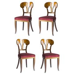 Set of Four Seats Biedermeier Castellarin