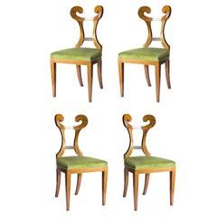 Set of 4 Seats Biedermeier Style Merlino