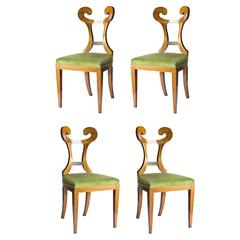 Set of Four Seats Biedermeier Merlino