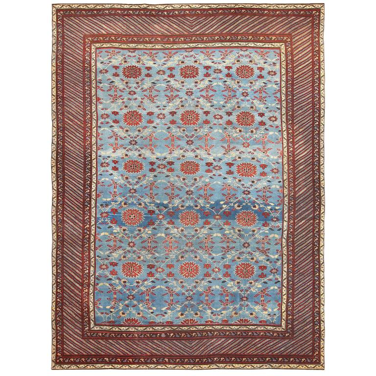 Antique Indian Rugs: Light Blue Antique Indian Rug For Sale At 1stdibs