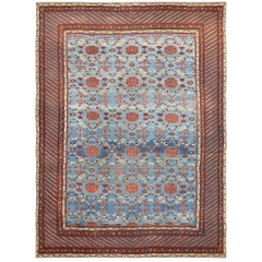 Light Blue Antique Indian Rug. Size: 10 ft 10 in x 14 ft 6 in (3.3 m x 4.42 m)